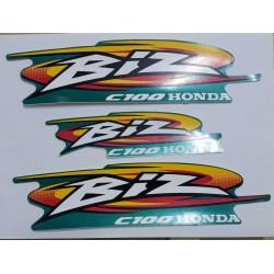 Kit de Adesivos C 100 Biz 2000 Verde Perolizado