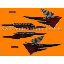 Kit de Adesivos CB 500 2001 Vinho