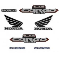 Kit de Adesivos Honda Cargo 160 2016 Branca