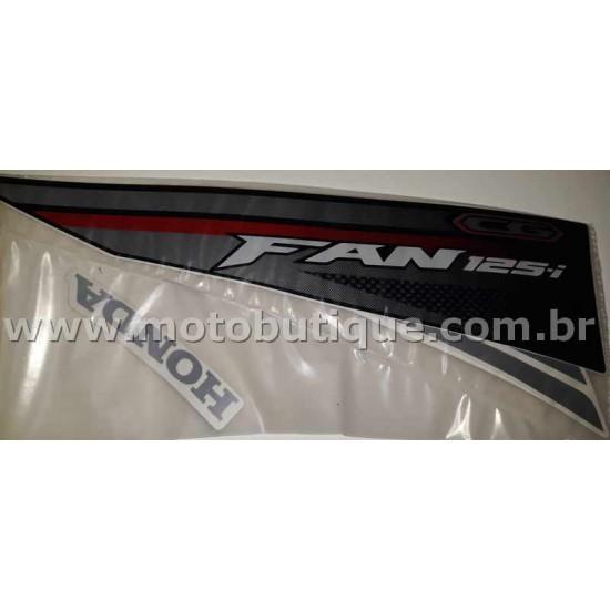 Kit de Adesivos Fan 125 I 2016 Preta