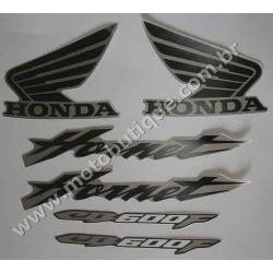 Kit de Adesivos Hornet 2007 CINZA