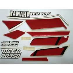 Kit de Adesivos RD 350 1987 Preta
