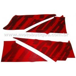 Kit de Adesivos XT 660 R 2009 Vermelha