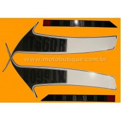 Kit de Adesivos XT 660 R 2010 2011 e 2012 Preta