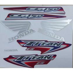 Kit Adesivos Titan 150 ES 2007 Vermelha