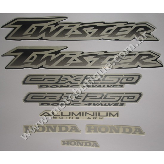 Kit de Adesivos Twister 2003 Preta